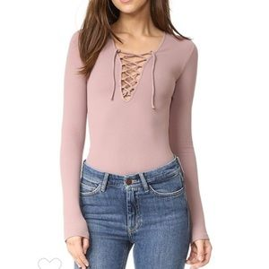 NWT Intimately Free People Lace Up Layering Top